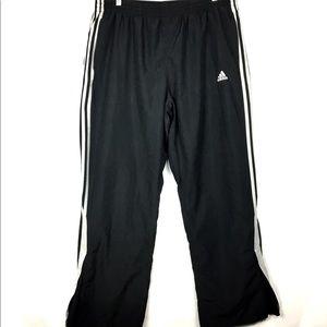 Adidas Men's Athletic Pants Zip Bottom Black Sz XL